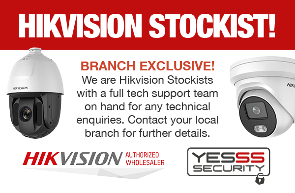 We are a HIKVISION Authorised Reseller - Contact your local branch for details
