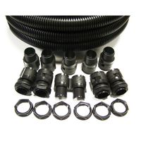 Show details for  IP40 25mm x 10m Black Polypropylene Contractor Pack c/w 10 x Glands & Locknuts