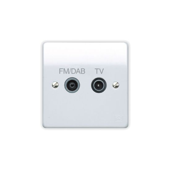 Picture of Logic Plus 1 Gang Twin TV/FM Dab Diplexer