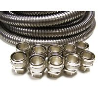 Show details for  IP40 25mm x 10m Galvanised Steel Conduit Contractor Pack c/w 10 x Fixed Galvanised Glands