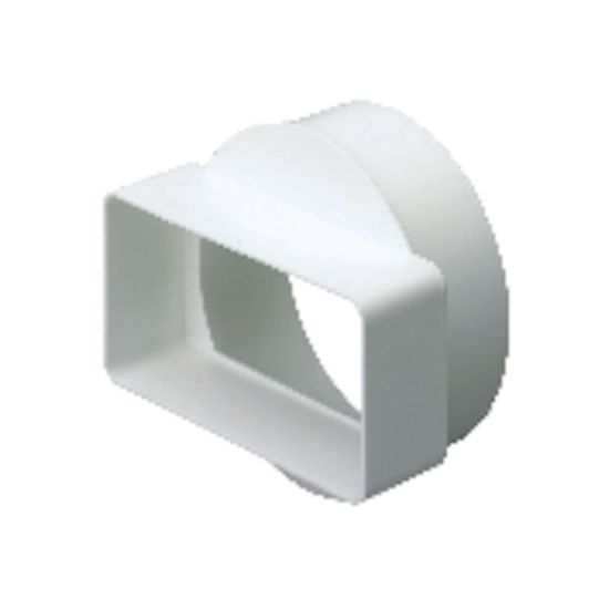 Picture of EasiPipe Rigid In-Line Space Saving Adapter (110mm x 54mm - 100mm) - White