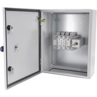 Show details for  IP65 400A (AC-23) 3P + Sw. Neutral (4th Pole) Sheet Steel Enclosed Switch Fuse