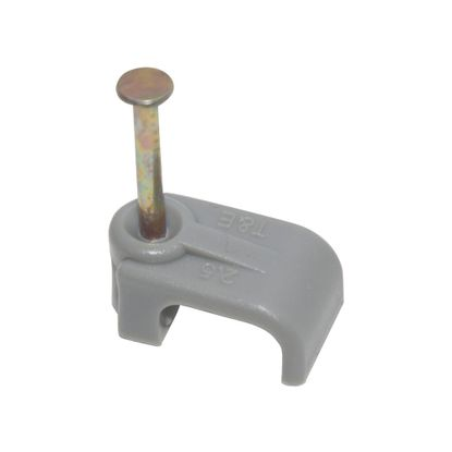Picture of 2 x 16mm² Flat Cable Clip - Grey [Pack of 100]