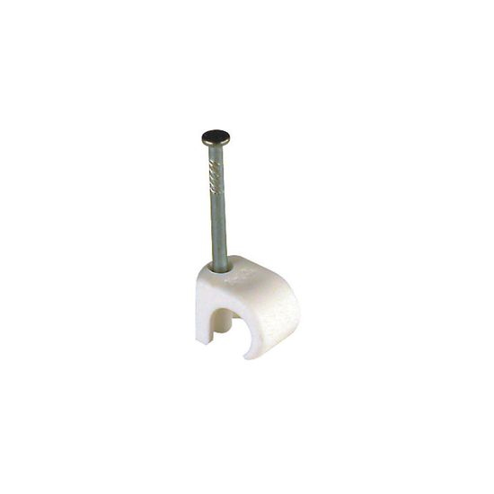 Picture of 3mm - 5mm Round Cable Clip - White [Pack of 100]