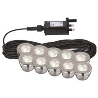 Show details for  Twilight 45mm LED Decking Kit, Round, Stainless Steel, 180lm, 4000K