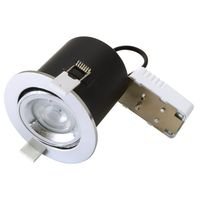 Show details for  FireRated Downlight Tilt GU10 IP20 Chrome (Lamp Not Included)
