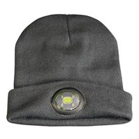 Show details for  LED Rechargeable Beanie Hat - Black