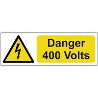 Show details for  Danger 400 Volts Label - (Pack of 5 SAV) 75 x 25mm