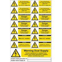 Show details for  PV Array/Solar Panel Various Label (Pack of 5 SAV-sheet)