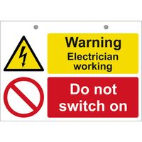 Show details for  Warning Electrician Working (1 x Rigid PVC) 148 x 210mm