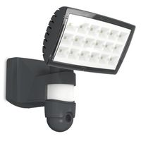 Show details for  Peri WiFi Camera & Integrated LED Wall Light, Dark Grey, 2120lm, 5000K
