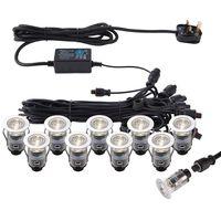 Show details for  IkonPRO CCT 25mm Round LED Decking Light Kit, 0.75W, 120lm, 3000K / 4000K, Polished Stainless Steel, IP67