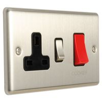 Show details for  Cooker Control Unit - Satin Stainless/Black
