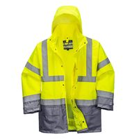 Show details for  Hi-Vis Executive 5-in-1 Jacket, Polyester, Grey / Yellow, XXX Large