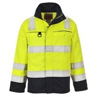 Show details for  Multi-Norm Jacket, Bizflame, Navy / Yellow, XXX Large