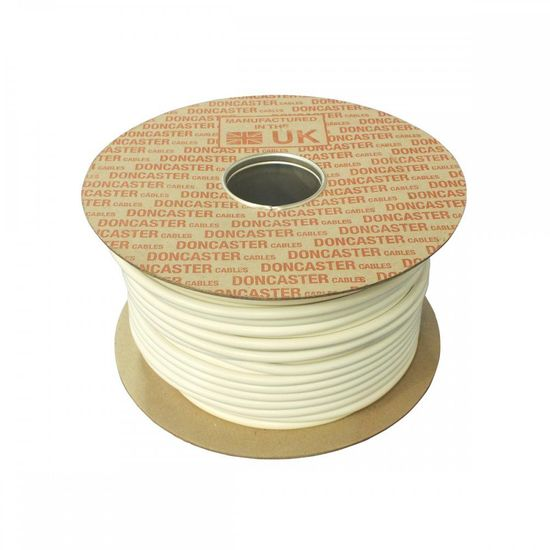 Picture of 3182Y Round Flexible Cable, 0.75mm², PVC, White (10m Coil)