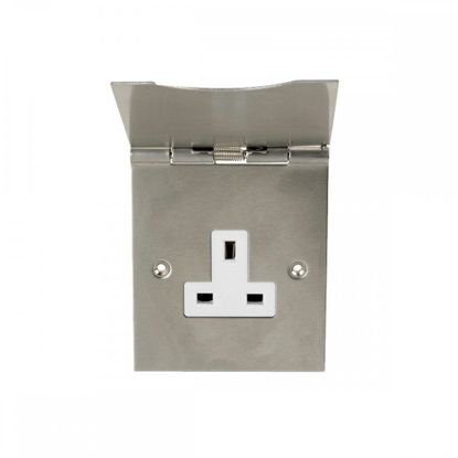 Picture of 13A 1 Gang Floor Socket with Hinged Face Plate