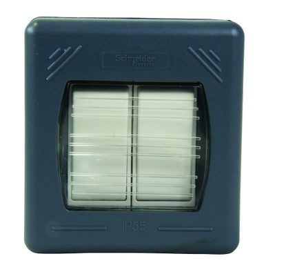 Picture of Exclusive Weatherproof IP55 10A 2 Gang 2 Way Switch