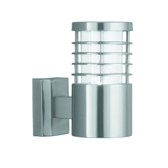 Picture of IP44 E27 Satin Silver Outdoor Wall Light