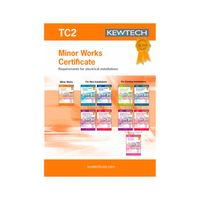Show details for  TC2 Minor Works Certificate