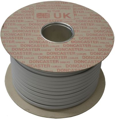 Picture of 1mm 2 Core PVC Cable with Circuit Protective Conductor Grey (50m Drum)