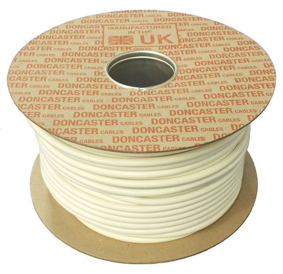 Picture of 3184Y Round Flexible Cable, 1mm², PVC, White (100m Drum)