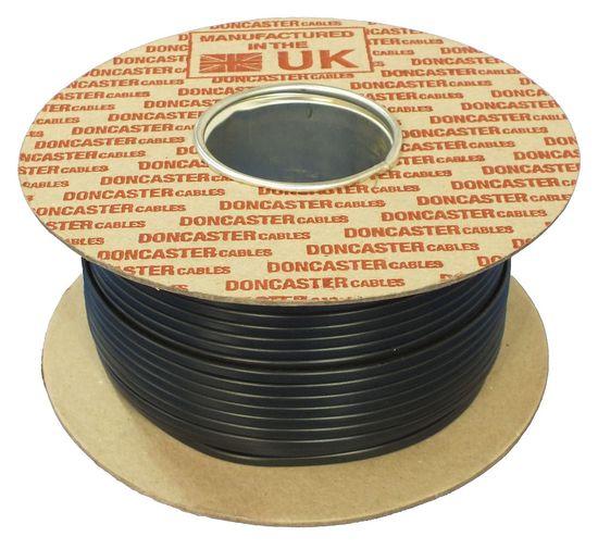 Picture of 2192Y Flat Flexible Cable, 0.5mm², 2 Core, PVC, Black (100m Drum)