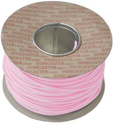 Picture of 0.75mm² Tri Rated Cable Pink (100m Drum)