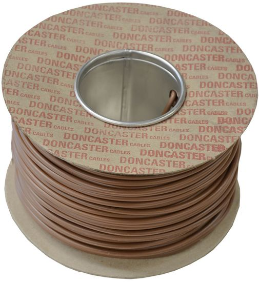 Picture of 1.0mm² Tri Rated Cable Brown (100m Drum)