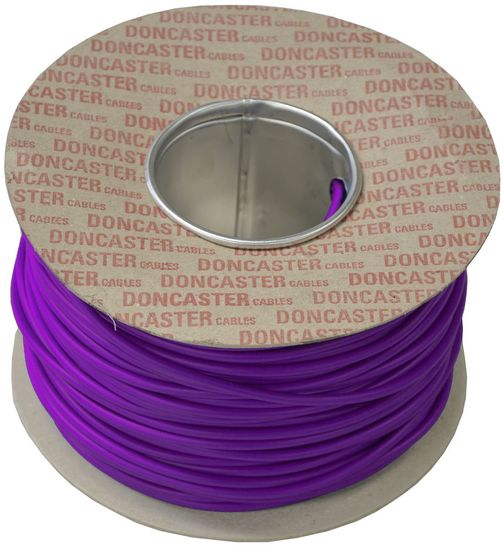 Picture of Tri Rated Cable, 1mm², PVC, Lilac (100m Drum)