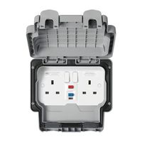 Show details for  Masterseal Plus 13A IP66 2 Gang DP Switched 30mA RCD Socket