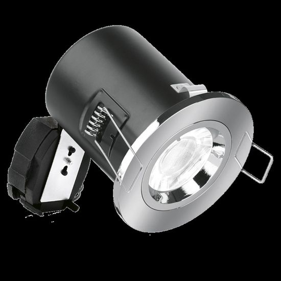 Picture of 50W Fixed Lock Ring Aluminium Fire Rated Downlight - Satin Nickel