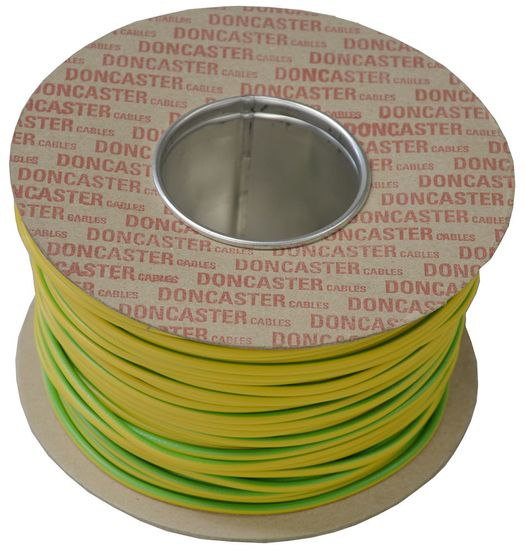 Picture of 6.0mm² Tri Rated Cable Green / Yellow (100m Drum)