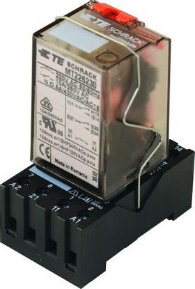 Picture of DIN Rail Socket, 8 Pin, MT2 Series