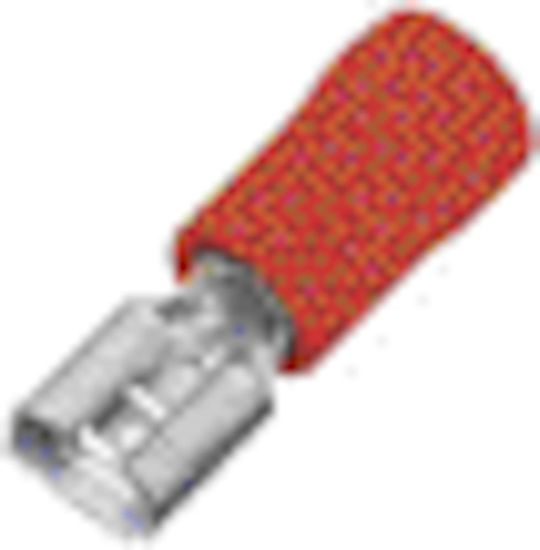 Picture of Crimp Terminal Female Spade (2.8mm) - Red [Pack of 100]