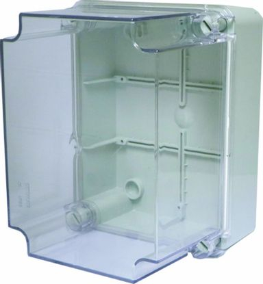Picture of IP67 Adaptable plastic box with transparent lid - H200 x W155 x D80mm