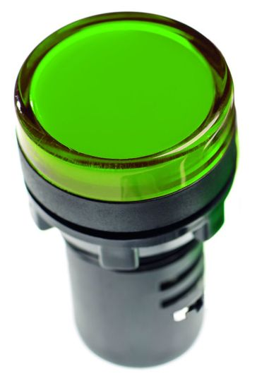 Picture of 22mm LED Pilot Lamp (IP65) - Green 230V AC