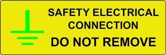 Picture of Safety Electrical Connection Do Not Remove Label - (Pack of 5 SAV) 75 x 25mm