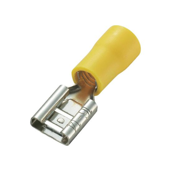Picture of Crimp Terminal Female Spade (6.3mm) - Yellow [Pack of 100]