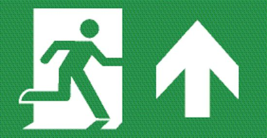 Picture of Emergency LED Exit Box Legend - Running Man Arrow UP