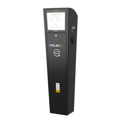Picture of 22kW EV Charging Pedestal with 2 x 32A Type 2 Sockets