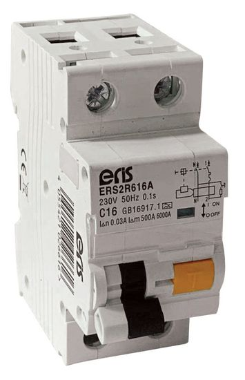 Picture of 20A 2 Pole 6kA 30mA A Type Compact RCBO - Type C