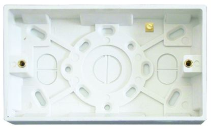 Picture of 2 Gang 47mm Surface Pattress White