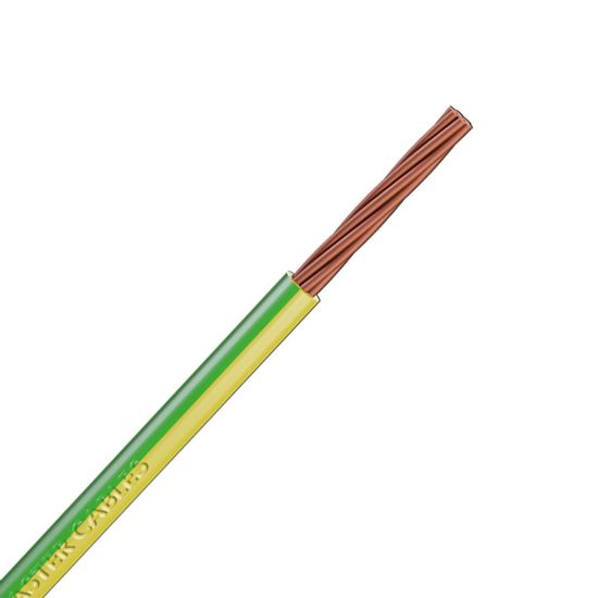 Picture of 6491X 6.0mm² Single Core Conduit Cable Green / Yellow (100m Drum)