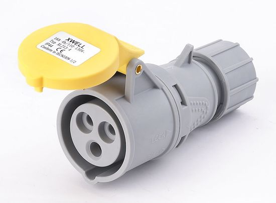 Picture of IP44 Connector 32A 2P+E 110V
