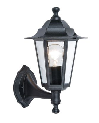 Picture of Corniche Wall Light, E27 (Lamp Not Included), Black, Aluminium