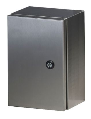 Picture of IP65 Stainless Steel Enclosure Grade 304 H500 x W400 x D200 c/w Backplate