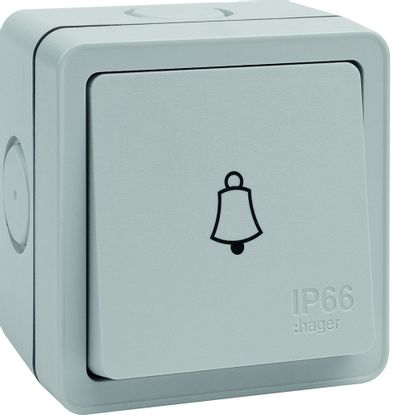 Picture of IP66 10AX 1 Gang Press Bell Switch